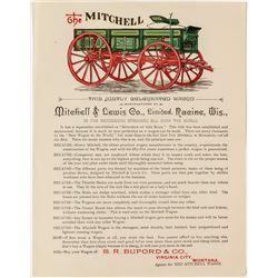 Handbill for The Mitchell