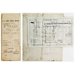 U. S. Mint / Virginia & Truckee Document