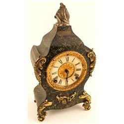 Vintage Ornate Ansonia Cast Iron Mantel Clock