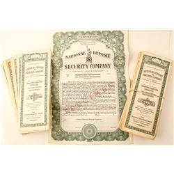 50 Unissued Nat'l Deposit & Security Co. Certificates