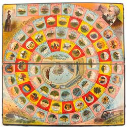 Game of Round the World with Nellie Bly (Vintage Board Game)
