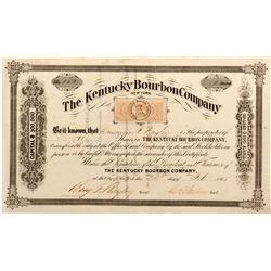 Rare Kentucky Bourbon Company Stock Certificate