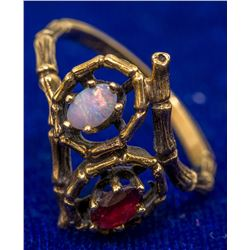 Ruby and Opal Ring