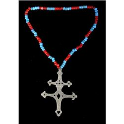 Hudson Bay Montreal Silver Cross Necklace 18th C.