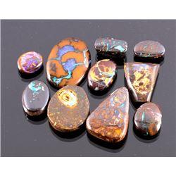 96ct. Australian Boulder Opal Cabochon Collection