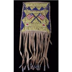 Sioux Patriotic Strike-A-Lite Beaded Bag