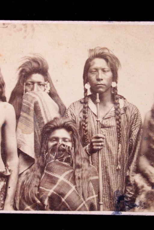 Image 3 1870s Ute Indian Carte De Visite Salt Lake