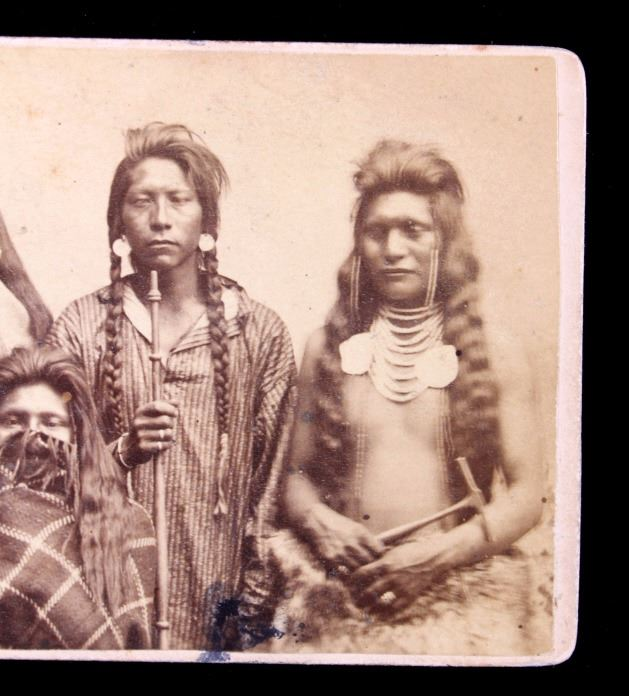 Image 4 1870s Ute Indian Carte De Visite Salt Lake