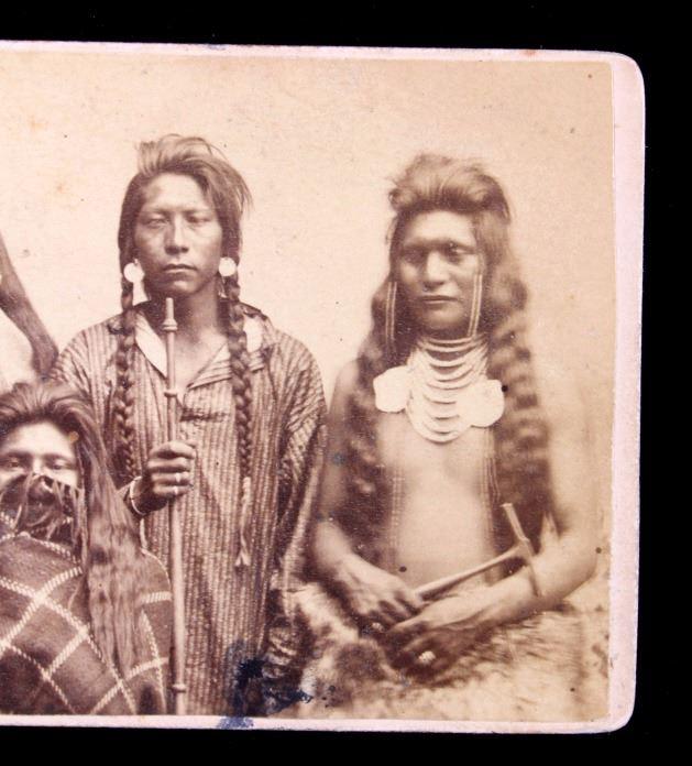 Image 4 1870s Ute Indian Carte De Visite Salt Lake