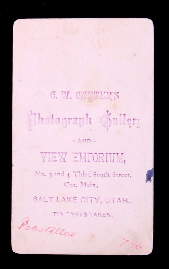Image 5 1870s Ute Indian Carte De Visite Salt Lake