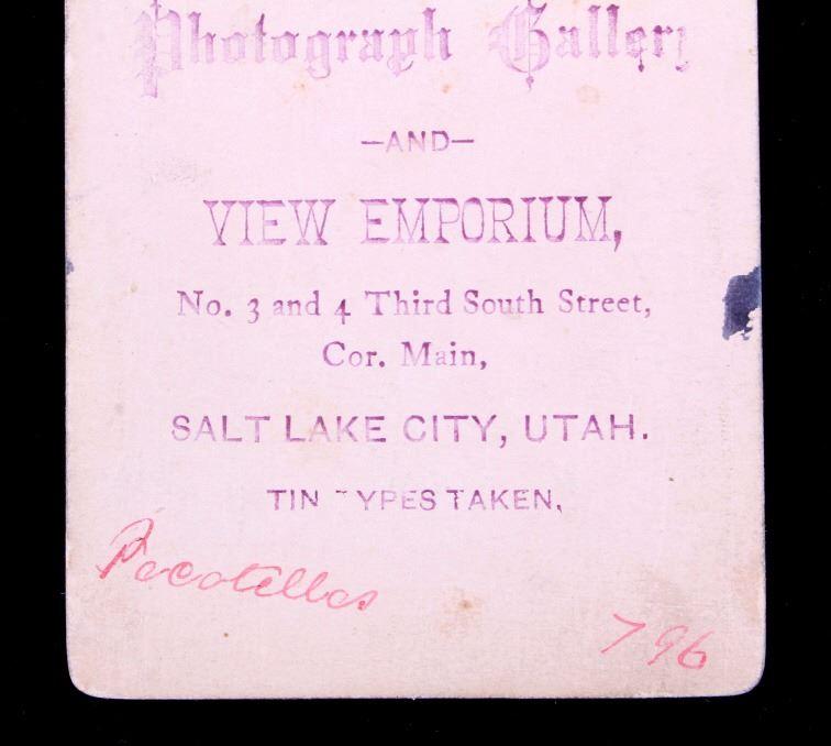 Image 7 1870s Ute Indian Carte De Visite Salt Lake