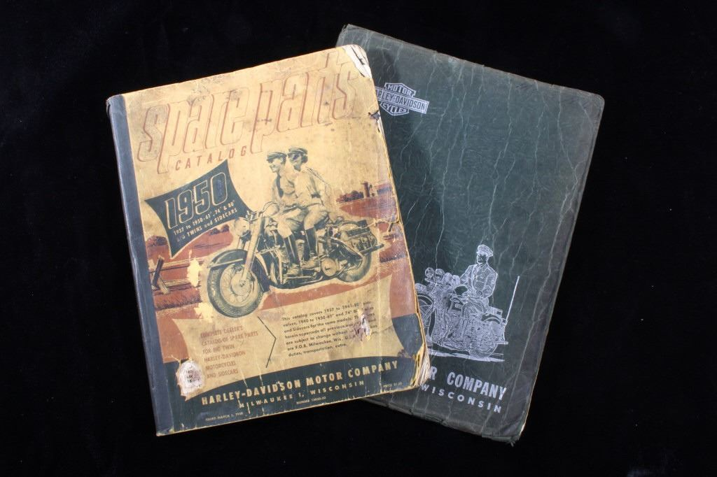 Harley-Davidson Spare Part & Service Books 1946-50 on