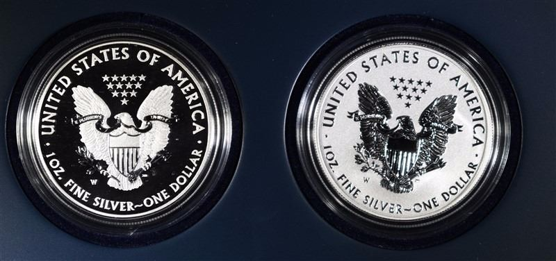 2013 American Eagle West Point Two Coin Silver Set Box With COA NO COINS