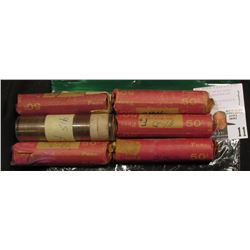 (6) circulated rolls Lincoln wheat cents: 1940-D, 41-D, 41-S, 42-S, 43-D, 46-S.