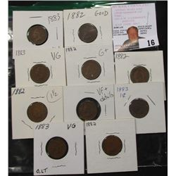 Indian Cents G-VG  5-1882, 5-1883 greysheet bid $30+