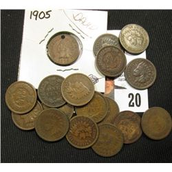(18) Indian Cents Circulated includes 1905 holed
