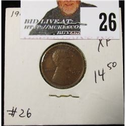 1914 Lincoln Cent XF