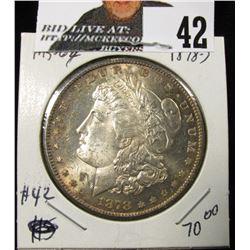 1878 S Morgan Dollar MS 63+ has some PL flash