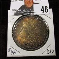 1884 O Morgan Dollar dark toned BU