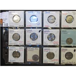 1922, 29, 34, 37 Dot, 43 Tombac, 44, 45, 46, 50, (2) 51, & 53 Canada Nickels, most are BU.