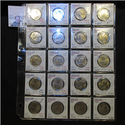 Thailand Brilliant Uncirculated Collection of One Bahts dating 1966-1975. Includes the young Prince,
