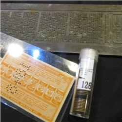 """""""Better Seeing For Better Living"""" old linotype Printing plate; (3) different """"Albers Profit Sharing"""