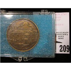1874-1974 Columbus Junction Centennial Medal, cased, 39mm, BU.