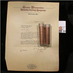 """1926 Letter on Letter head """"Cherry Blossoms Manufacturing Company St. Louis, Mo.; 1976 D & 77 D Orig"""