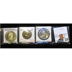 "1658 Proof Olivar Cromwell Commemorative Medal, Copper-nickel; 1732-1799 George Washington Medal, ""M"