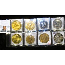 1775 Daniel Boone Founding of Boonesborough 24Kt Gold Plated High Relief Bronze Medal; 14K Gold-plat