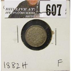 1882H Canada Five Cent Silver, Fine.