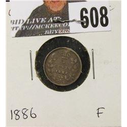 1886 Canada Five Cent Silver, Fine.