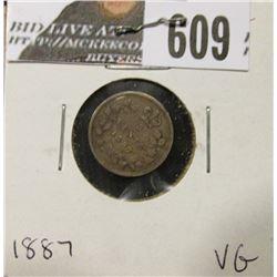 1887 Canada Five Cent Silver, VG.