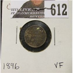 1896 Canada Five Cent Silver, Very Fine.