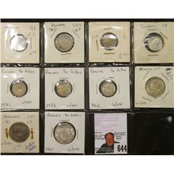 (10) Panama Coins 1904-1962 with (6) being Silver.