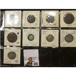 (9) Spanish Coins 1857-1891 with (4) being Silver.