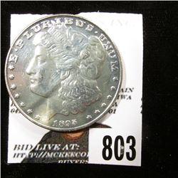 "1895 P Morgan Dollar ""P"" Tribute Proof copy with original literature. Gem condition."