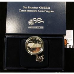 2006 S San Francisco Old Mint U.S. Silver Dollar, Proof in original case of issue.