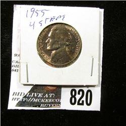 1955 P Jefferson Nickel, Gem BU with four full steps.