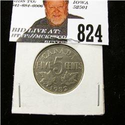 1932 Canada Nickel, EF.