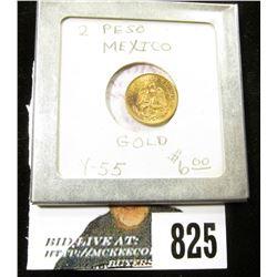 1945 Republic of Mexico 2 Pesos Gold Piece, Brilliant Uncirculated.