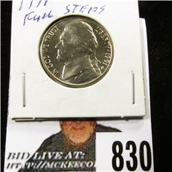 1991 P Jefferson Nickel, Gem BU with full steps.
