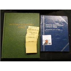Used and somewhat damaged blue Whitman folder for Barber Half Dollars containing an 1899 P in Good;