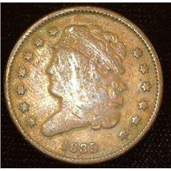 1835 U.S. Half Cent, VF.