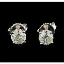 14KT White Gold 1.33 ctw Diamond Stud Earrings