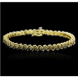 10KT Yellow Gold 2.50 ctw Diamond Bracelet
