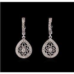 0.74 ctw Diamond Earrings - 14KT White Gold