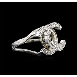 0.37 ctw Diamond Ring - 14KT White Gold