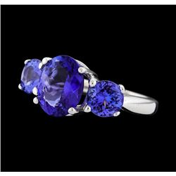 4.51 ctw Tanzanite Ring - Platinum