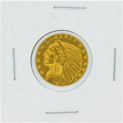 1914-D $5 Indian Head Half Eagle Gold Coin
